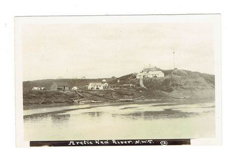 N.W.T. Arctic Red River. Hudson's Bay Co. (Publ). RPPC Postcard. Canada