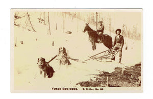 "Yukon Postcard. Yukon Dog Team. ""Bow-wows"". Canada"