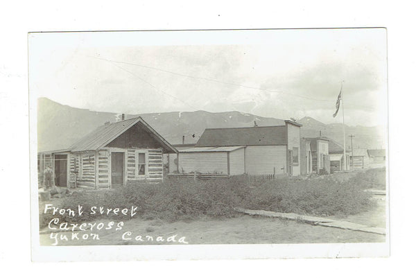 YT, Carcross. RPPC Postcard. Front Street, 1910's. Canada