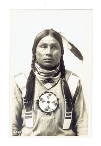 "Byron Harmon. #513. ""Stoney Indian"". RPPC Postcard"