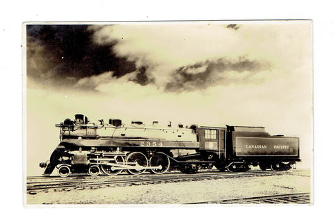 Canadian Pacific Railway Locomotive Engine. Postcard. Canada