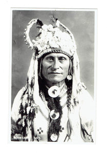 "Byron Harmon. #507. ""Indian Chief"". Postcard"