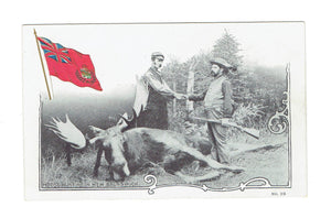 St John, New Brunswick. Moose Hunting. Patriotic Postcard. Canada
