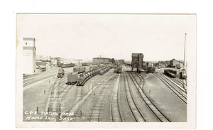 Moose Jaw, SK. RPPC Postcard. C.P.R. Station And Yards. Canada.