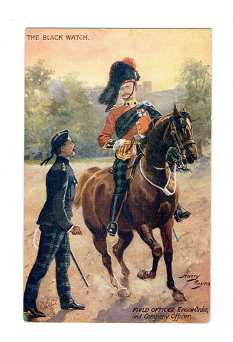 "Artist Signed Tuck Postcard. Harry Payne. ""The Black Watch""."