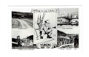 "Yukon RPPC Postcard. ""Panning Our Way To Fortune"". Canada"