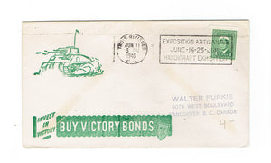 "Military Patriotic Cover. Trois-Rivieres, PQ. 1946. ""Buy Victory Bonds"" With Slogan Cancel. Canada"