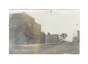 "Morris, MN. RPPC Postcard. Main Street 1900's. ""Morris On A Busy Day"". USA"