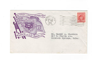 Montreal, PQ. YMCA 1944 Cover. 100th Anniversary Of YMCA In USA. Canada