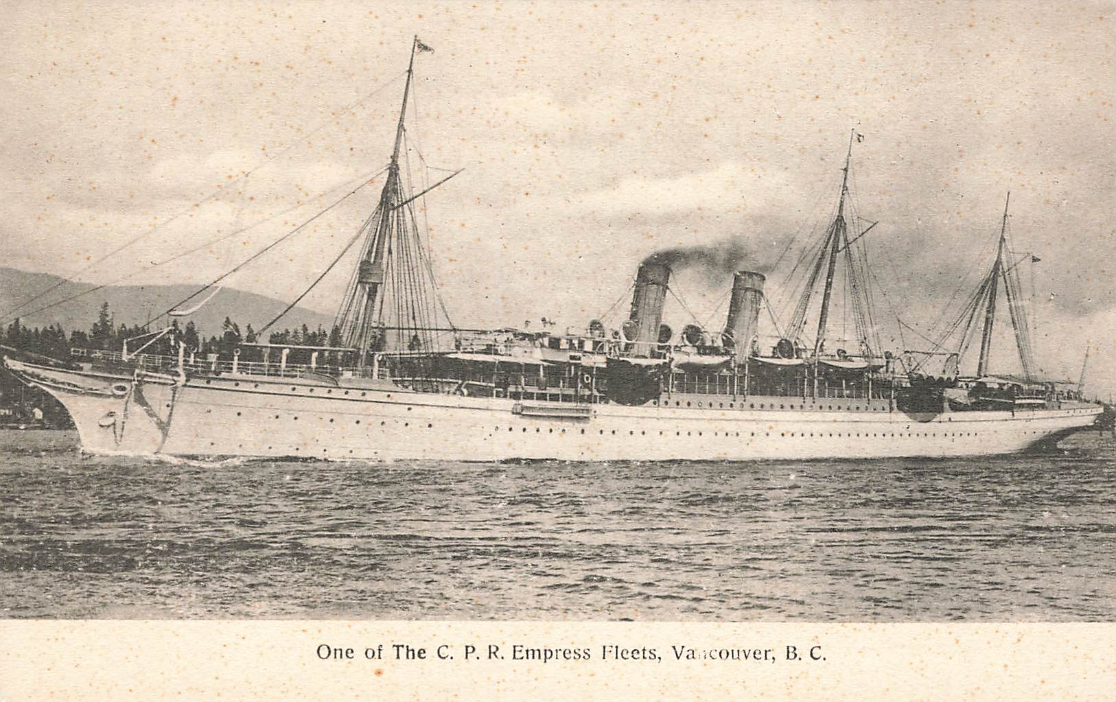 Vancouver, BC. One Of The CPR Empress Fleets. Canada