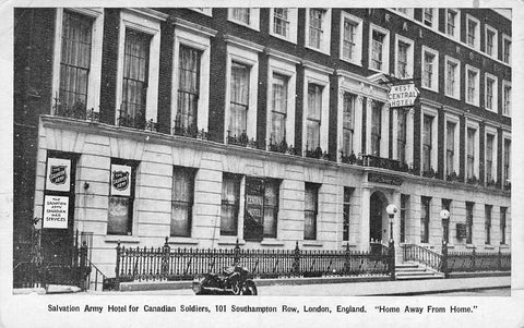 London, England. Salvation Army Hotel For Canadian soldiers. WW II. Postcard.