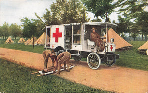Military Postcard. United States Army Field Hospital. Brown Bros Photo.