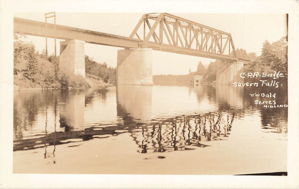 Severn Falls, ON. RPPC Postcard. CPR Railway Bridge. Canada