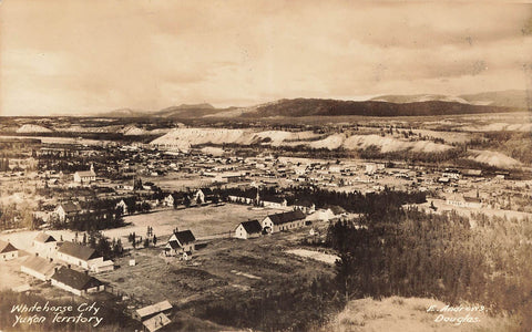 YT, Whitehorse. RPPC Postcard. View From Airport Hill. 1924. Canada