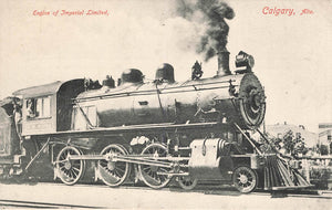 Calgary, AB. Postcard. Locomotive. Engine Of Imperial Limited. Canada