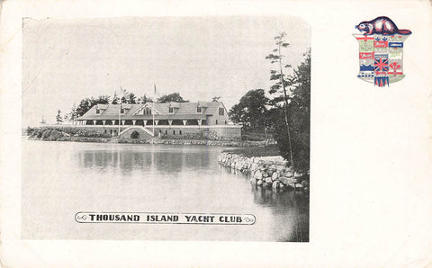 Ontario. Patriotic Postcard. Thousand Island Yacht Club. Undivided Back. Canada