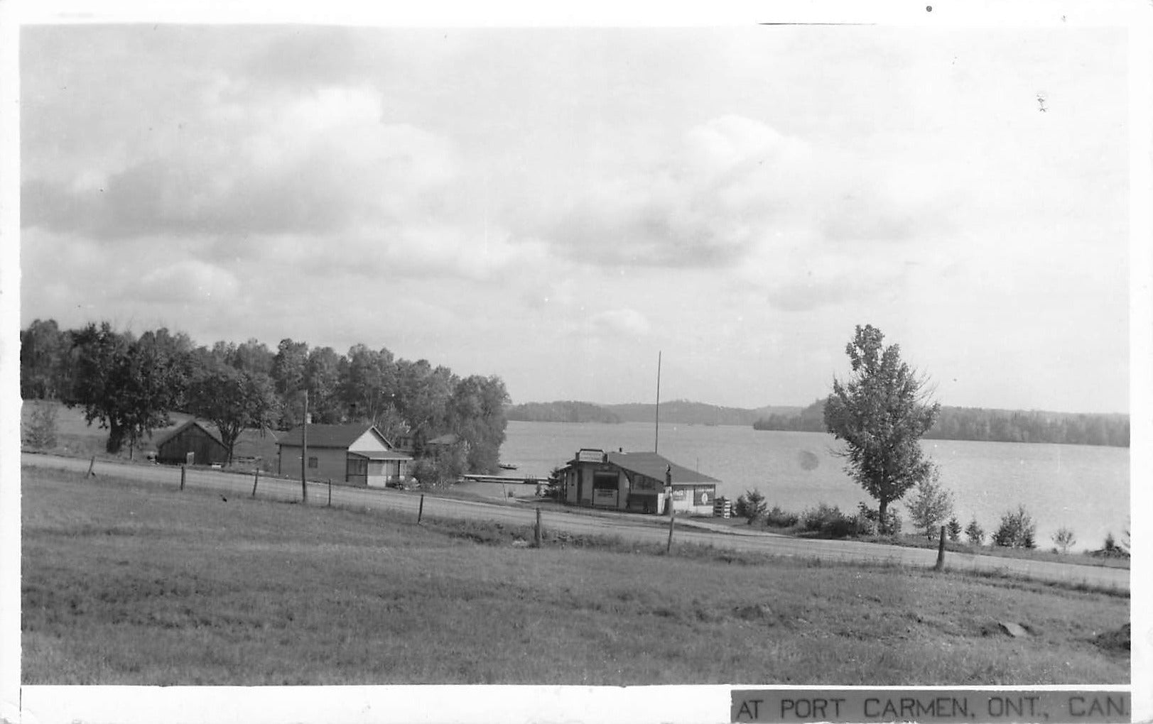 Port Carmen, Ontario. RPPC Postcard. 1944. Lake View. (1908-1951). Canada