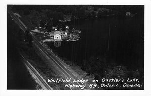 Ontario. RPPC Postcard. Whitfield Lodge On Oastler's Lake. Ariel View. Canada