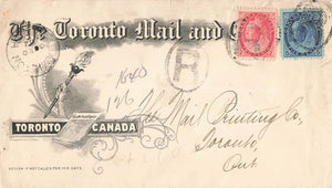Toronto, ON. The Toronto Mail And Empire Registered Advertising Cover 1902. Canada