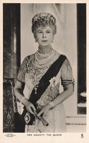 Royalty. Her Majesty Queen Mary. RPPC Tuck Postcard