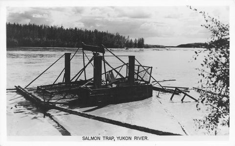 Salmon Trap In The Yukon River. Gowen Sutton. Canada Postcard