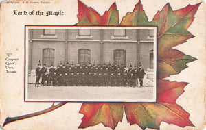 "Toronto, ON. ""E"" Company, Queen's Own. Land Of Maple Series. Patriotic Postcard. Canada"