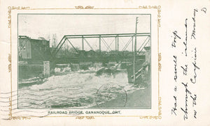 Gananoque, ON. 1905. Railroad Bridge. Postcard. Canada