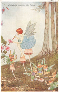"Elves And Fairies Series No. 75. Periwinkle  ""The Little Fairy Sister"" Outhwaite Postcard"