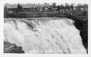 Fort William, ON. Kakabeka Falls. Harold's Photo. Canada RPPC Postcard