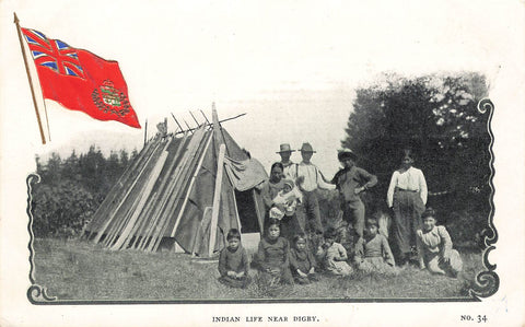Digby, NS. Patriotic Postcard. Indigenous Life. Canada