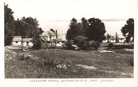Glenalda, ON. Lakeview Hotel. RPPC Postcard. Canada