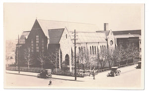 CALGARY ALBERTA. PROTESTANT CATHEDRAL. RPPC. EARLY 1900'S CANADA POSTCARD.
