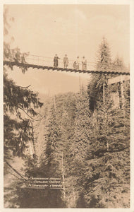 Vancouver, BC. Suspension Bridge Over Capilano Canyon. Canada RPPC Postcard