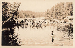 Prince Rupert, BC. Bathers At Salt Lake. RPPC Postcard. Canada
