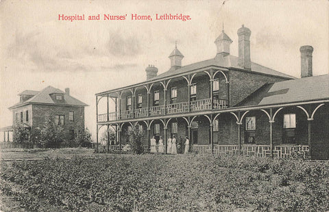 Lethbridge AB. Hospital And Nursing Home Canada Postcard