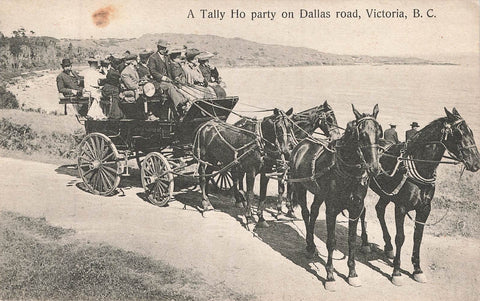 Victoria, BC. Tally Ho Party On Dallas Road. Canada