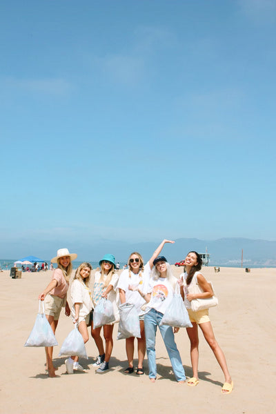 a group of ladies at the beach
