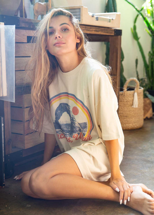 Arches Utah Antique White T-Shirt Dress