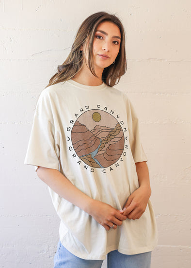Grand Canyon Sun Antique White T-Shirt Dress