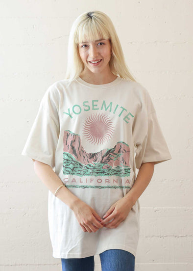 Yosemite Sun Antique White T-Shirt Dress