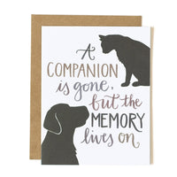 A Companion is Gone Greeting Card