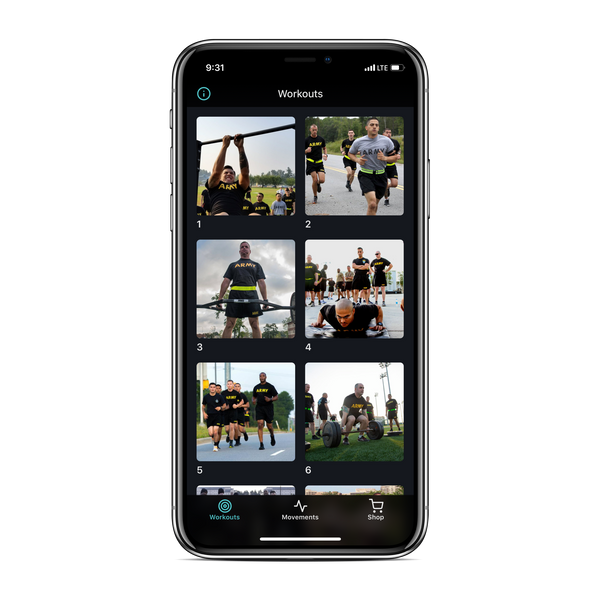 Hele ACFT App - Workouts