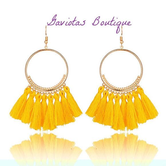 Sunshine In The Morning Bohemian Culture Earrings-Gaviotas Boutique