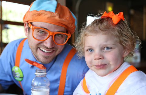 Blippi and Ava are all smiles!