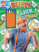 Load image into Gallery viewer, Blippi: I Like That! Coloring Book with Crayons