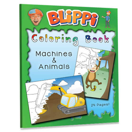Coloring Book – Machines & Animals