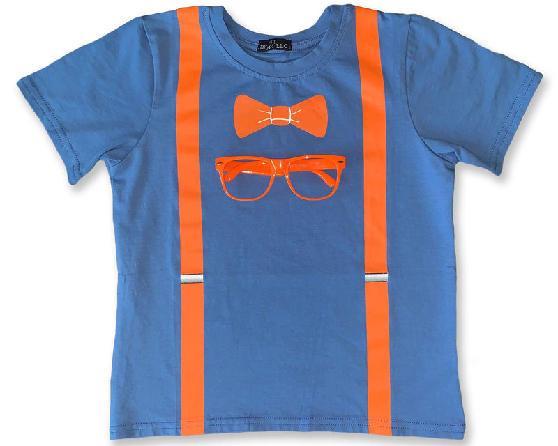 Blippi T-Shirt & Glasses