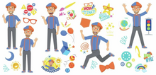 Load image into Gallery viewer, Blippi Character Peel and Stick Wall Decals