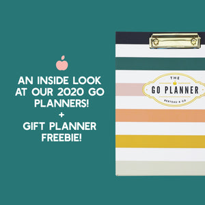 2020 GO PLANNERS + HOLIDAY GIFT PLANNER FREEBIE
