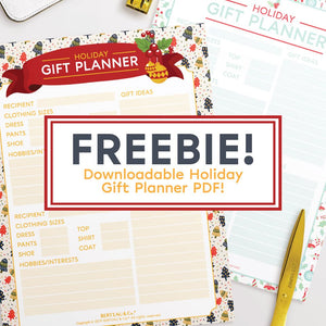 Free Downloadable Holiday Gift Planner